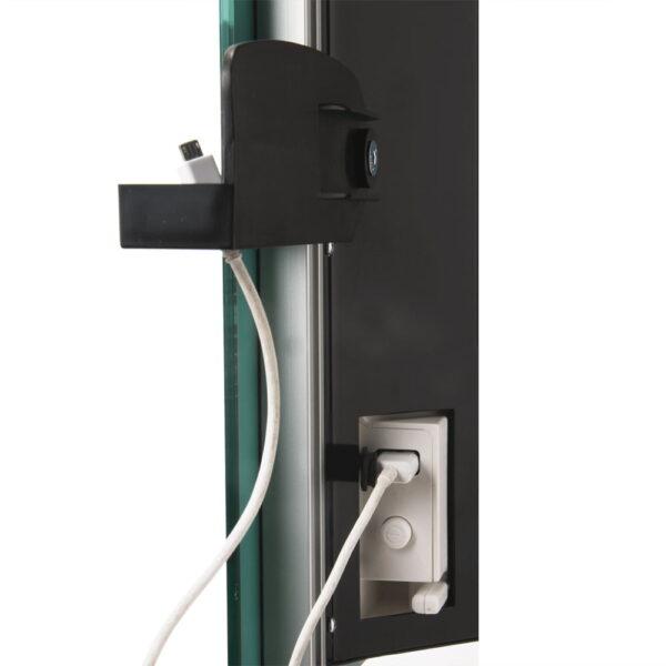 Radialight DEVA, Glass Fronted Bathroom Heater with Towel Rail