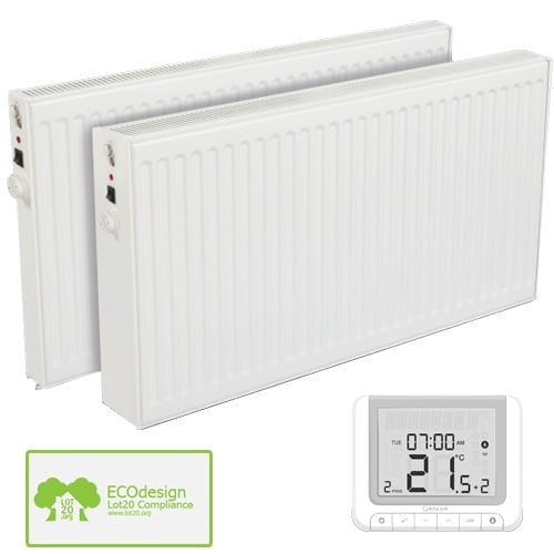Huber Efficient Oil Filled Electric Radiator, Wall Mounted + Timer, Thermostat - Buy Online