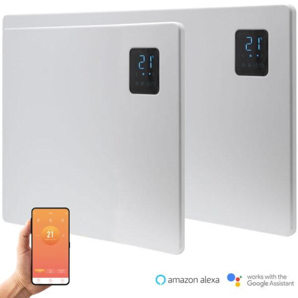 Caldo Slimline WiFi Electric Panel Heater, Wall Mounted + Voice Control