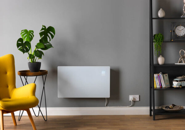 Vitra Glass WiFi Electric Panel Heater, Wall Mounted Radiator IPX4 Eco Design Lot 20 Compliant