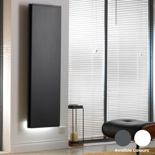 Radialight Icon Vertical Electric Radiator Wall Mounted, WiFi & Timer, IP24