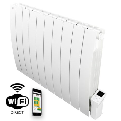 Forte WiFi Aluminium Oil Filled Electric Radiator / Smart WiFi Wall Mounted Heater with Timer - 1800W