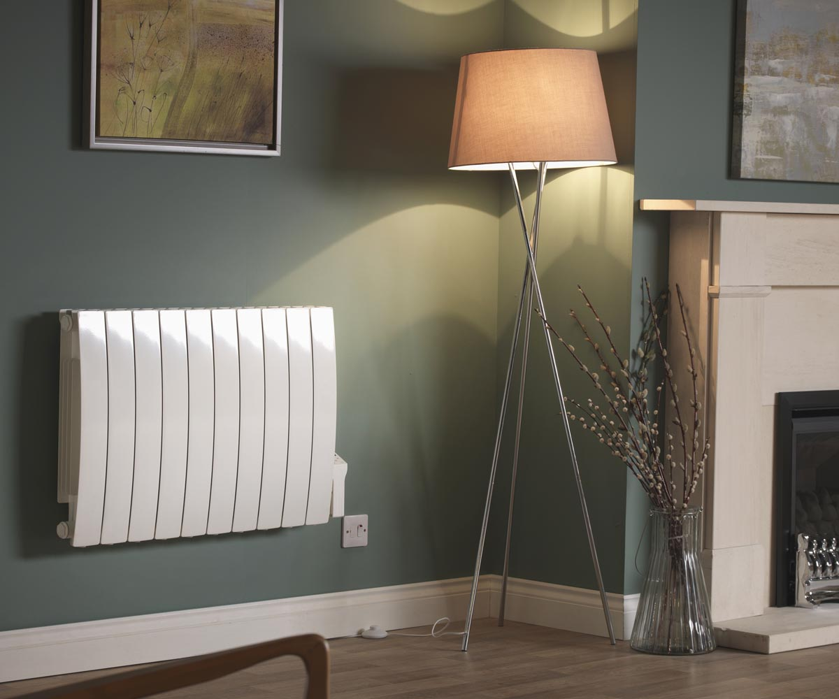 Forte WiFi Aluminium Oil Filled Electric Radiator / Smart WiFi Wall Mounted Heater with Timer