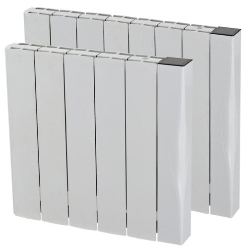 Exo Aluminium Ceramic Electric Radiator, Wall Mounted + Timer, WiFi