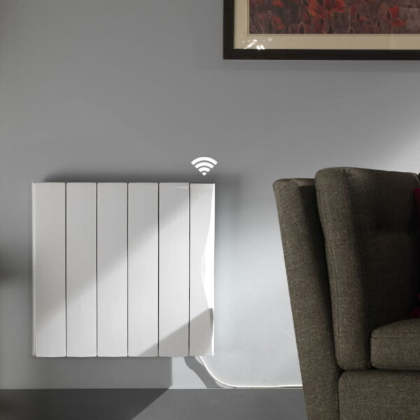 EXO Electric Radiator, Aluminium Fins Ceramic Core / with WiFi ERP LOT20 Compliant