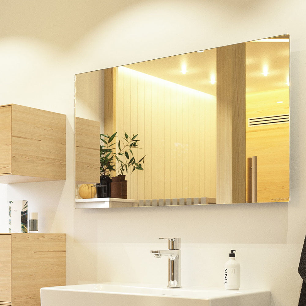 Welltherm Mirror Infrared Electric, Infrared Wall Heaters Bathroom